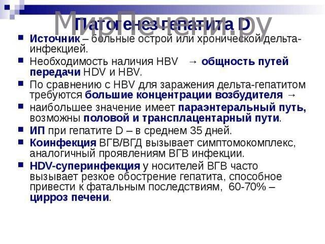Патогенез гепатита Д
