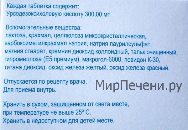 Ливодекса, состав
