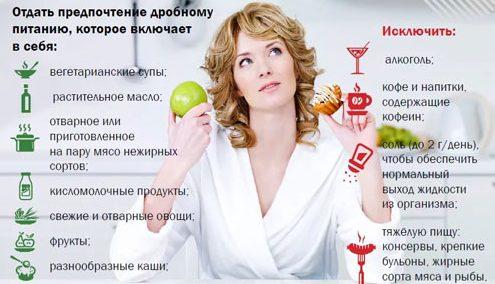 Правила диеты при гепатите А